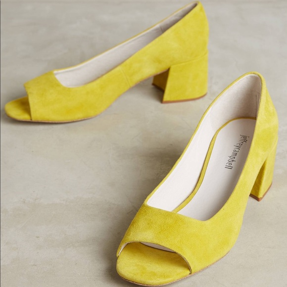 76ec11712e2 Jeffrey Campbell Shoes - NEW Jeffrey Campbell Buffy Peep Toe Pump Yellow 7